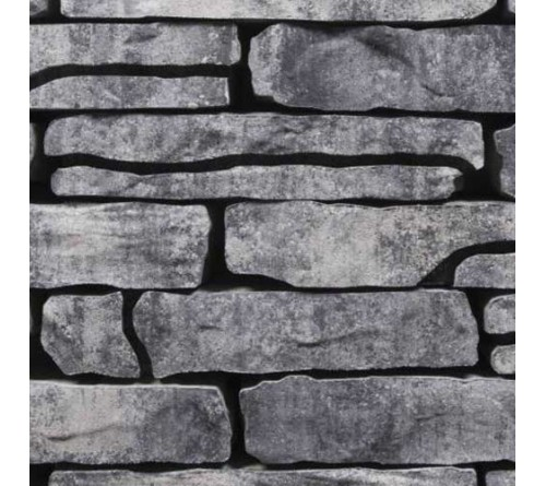 English Stone Cottage Walling GrijsZwart
