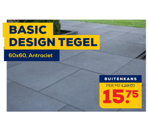 Basic Design Tegel 60x60 Antraciet