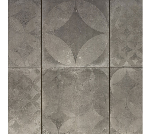 Cerasun Concrete Decor Ash 60x60x4cm