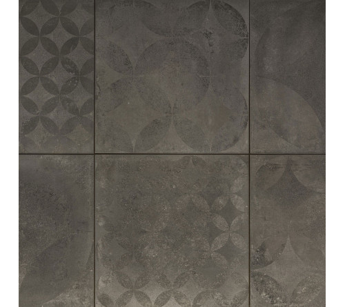 Keramische Tuintegel Concrete Decor Graphite 60x60x3cm