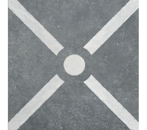 vtwonen Duostone Cross White on Grey 60x60 buitentegels